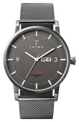 Men's Triwa 'Klinga' Mesh Strap Watch 38Mm