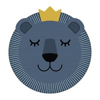 Podevache Blue Lion Face Vinyl Placemat