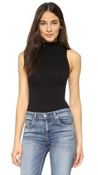 Commando Mockneck Sleeveless Bodysuit Black