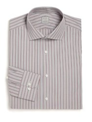 Ike Behar Regular Fit Lion Striped Dress Shirt