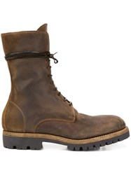 Guidi 791V Cordovan Lace Up Boots Brown