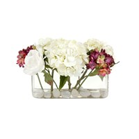 Paper Whites Rose Garden In Glass Trough Cream