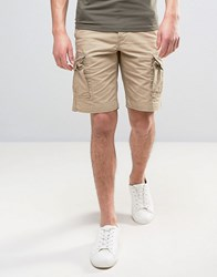 Jack And Jones Intelligence Cargo Shorts In Loose Fit Chinchilla Beige