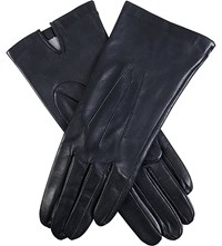 Dents Classic Silk Lined Leather Gloves Navy