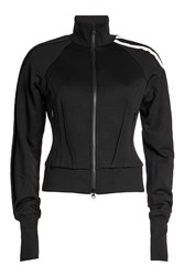 Y 3 Zipped Track Jacket With Cotton Black