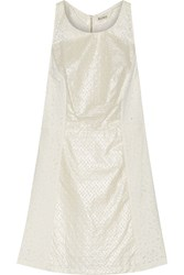 Suno Broderie Anglaise Cotton Mini Dress White