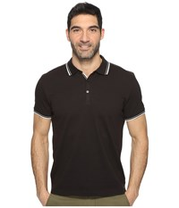 Kenneth Cole Polo With Tipping Black Men's Short Sleeve Pullover