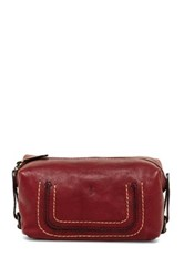 Frye Anna Leather Cosmetic Case Red