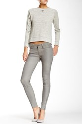 J Brand Leather Mid Rise Stretch Pant Gray
