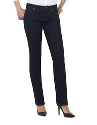 Lauren Ralph Lauren Curvy Super Stretch Straight Leg Stretch Jeans Rinse