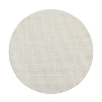 Chilewich Basketweave Round Placemat Cement