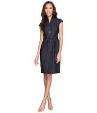 Calvin Klein Button Front Denim Sheath Dress Cd6d1y61 Blue Women's Dress