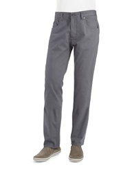 Calvin Klein Jeans Twill Slub Slim Straight Leg Pants Grey