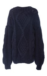 I Love Mr. Mittens Angeline Cableknit Sweater Navy