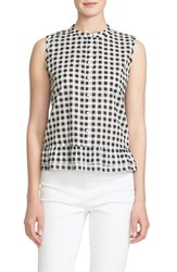 Women's Cece By Cynthia Steffe Sleeveless Gingham Print Blouse