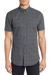 Zanerobe Men's 'Seven Ft Tx' Longline Short Sleeve Print Woven Shirt