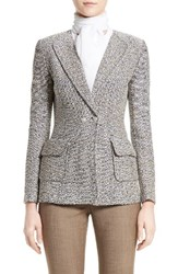 St. John Women's Collection Aluna Tweed Knit Double Breasted Jacket