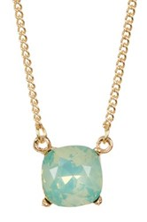 Cara Accessories Single Crystal Necklace Metallic