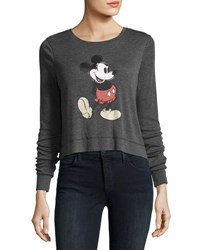 David Lerner Mickey Mouse Long Sleeve Tee Black