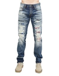 Cult Of Individuality Greaser Slim Straight Cotton Jeans Red Rock