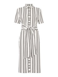 Linea Tie Front Shirt Dress Ivory