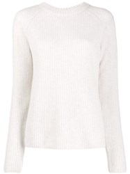 Vince Crew Neck Knit Sweater White