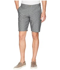Ben Sherman Micro Print Chambray Shorts True Indigo Marl Blue