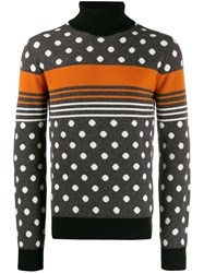 Dolce And Gabbana Polka Dot Intarsia Jumper 60