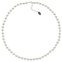 Finesse Glass Pearl Necklace White