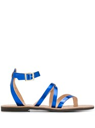P.A.R.O.S.H. Crossover Strap Sandals Blue