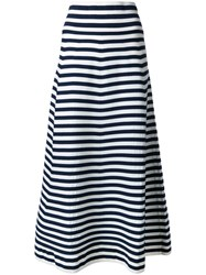 Sonia Rykiel Striped Mid Skirt White
