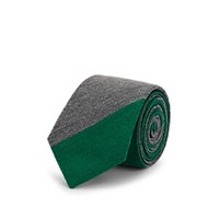 Alexander Olch Colorblocked Wool Necktie Gray