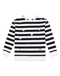Kate Spade Striped Sequin Dot Sweatshirt Multi