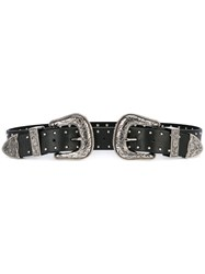 B Low The Belt Double Buckle Women Leather Metal S Black