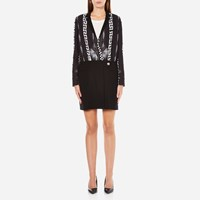 Versus By Versace Women's Print Shirt Dress Black White