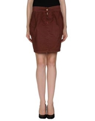 Magazzini Del Sale Mini Skirts Maroon