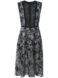 Yigal Azrouel Python Print Burnout Dress Women Silk Viscose 2 Black