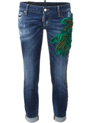 Dsquared2 Palm Tree Jeans Blue