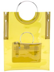 Toga Ring Handle Vinyl Tote Bag Green
