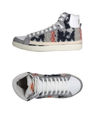 Pdo Gold High Top Sneakers Red