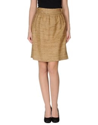 Edward Achour Knee Length Skirts Camel