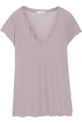 James Perse Slub Cotton Jersey T Shirt Lavender