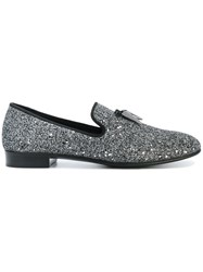 Giuseppe Zanotti Design Spacey Glitter Slippers Metallic
