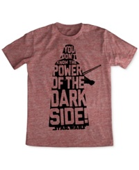 Fifth Sun Star Wars Knowledge Is Power T Shirt Red Snow Heather