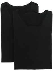 Attachment Exposed Seam T Shirt Black