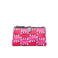 Lulu Guinness Women's Lips Double Make Up Bag Multi