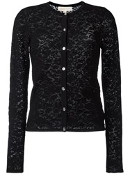Michael Michael Kors Pointelle Cardigan Black
