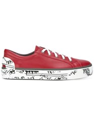 Lanvin Printed Sole Sneakers Red