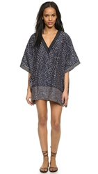 Proenza Schouler Reef Print Caftan Cover Up Electric Blue
