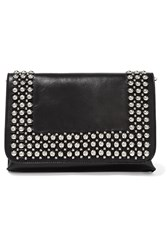 Emilio Pucci Embellished Leather Clutch Black